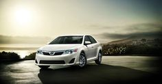 2012 Toyota Camery L shown in Super White.. i would want graaaaay or black