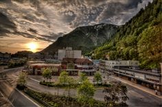 Juneau - this captures the feeling of a typical evening downtown.
