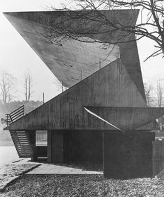 Netherdale football ground stand, Galashiels, Scotland | Peter Womersley (with Ove Arup, engineers), 1964