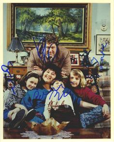 Roseanne Cast Signed 8x10 Photo Certified Authentic JSA