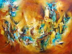"""""""Caminos inciertos"""" - Monica Renedo - Oleo sobre tela www.esencialismo.com"""