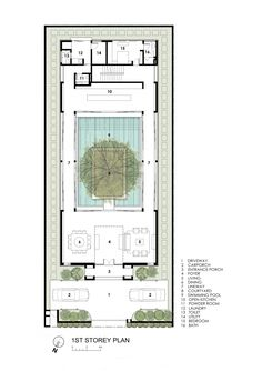 Image 26 of 31 from gallery of Centennial Tree House / Wallflower Architecture + Design. Photograph by Wallflower Architecture + Design Architecture Design Concept, Architecture Plan, Modern House Plans, House Floor Plans, Villa Luxury, Villa Plan, Casa Patio, Plan Sketch, Courtyard House