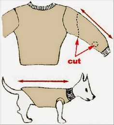 How to Make a Sweater for Your Dog NO SEW!