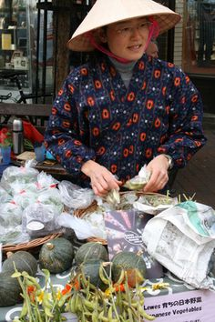 Japanese vegetables at Lewes Farmers' Market