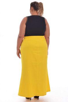 Saia Longa Yellow - VK Moda Plus Size