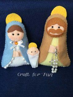 La Sacra Famiglia in feltro e pannolenci.