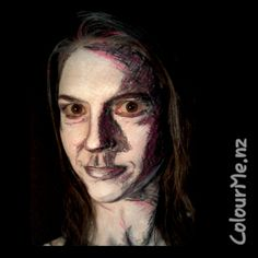Kristin Olsson inspired Sketch Facepainting by www.colourme.nz #InspirationToPaint #AugustChallenge #colourmeNZ