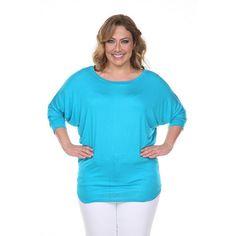Plus Size White Mark Dolman Top, Women's, Size: