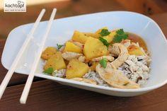 Weiter geht es mit der schnellen Küche. Asiatische Rezepte eignen sich für schnelles Kochen besonders, wie auch dieses Chicken-Curry mit Ananas beweist.Zudem gibt es für diese Art von Küche viele Convinence-Produkte auf die man zurückgreifen kann. Hier...