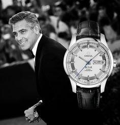 George Clooney en el Festival Internacional de #Cinema de #Venecia con su #reloj #Omega de Ville