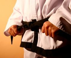 Martial artists wear their black belts in their hearts and minds, not just around their waists....