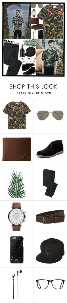 """""""Tropical Men"""" by savinadfx on Polyvore featuring Gucci, SELECTED, Vans, Hush Puppies, Nika, TravelSmith, Emporio Armani, HUGO, Native Union and New Era"""