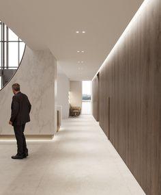 The private clinic Clinic Interior Design, Clinic Design, Indian Bedroom Design, Scandinavian Office, Medical Health Care, Corridor Design, Villa, Luxury Office, Hospital Design