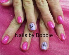 Bright nail art.