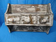 Primitive wall shelf shelf with drawers shelf by LynxCreekDesigns, $149.99