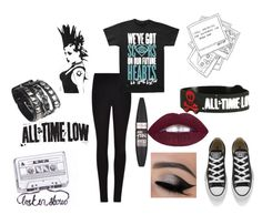 """""""All Time Low"""" by retrochic394 ❤ liked on Polyvore featuring Converse, Winser London and Maybelline"""
