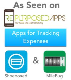 As Seen on REpurposedApps: Mileage Tracker and Receipt Tracking Apps