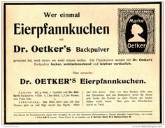Original-Werbung/ Anzeige 1910 - EIERPFANNKUCHEN MIT DR. OETKER'S BACKPULVER…