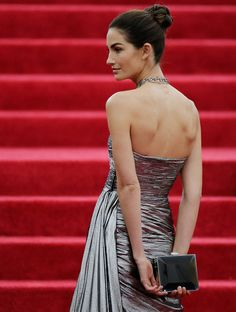 Lily Aldridge attends the 'Charles James: Beyond Fashion' Costume Institute Gala at the Metropolitan Museum of Art on May 5, 2014 in New Yor...