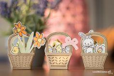 Anleitung für ein Mini-Osterkörbchen mit Produkten von Stampin' Up! www.love2becreative.de Big Shot, Mini, Stampin Up, Scrap, Boxes, Spring, Cards, Easter Activities, Tutorials