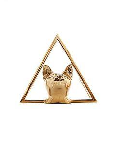 Glenda López The Cat Golden Clip - Unisex #Brooches