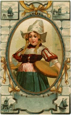 Vintage Dutch Girl Image - Free from Graphics Fairy!