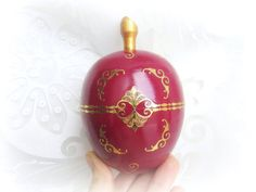 Ring bearer wedding ring box marsala colour wood by GattyGatty