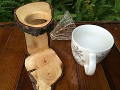 Redemption Woodwork Coffee Care Package - Silver Maple Pour-Over Stand