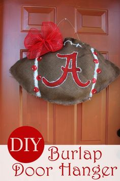Do you love burlap crafts? This simple DIY Burlap Door Hanger is an easy alternative to a burlap wreath.