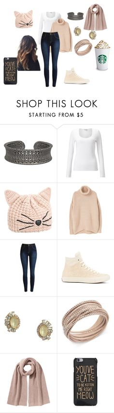 """""""Knitted In Style"""" by fashionable-fan-of-anything ❤ liked on Polyvore featuring Jigsaw, Karl Lagerfeld, MANGO, Converse, LULUS, Swarovski and Closed"""