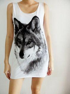 Wolf Wolves Street White Vest T-Shirt Tank Top