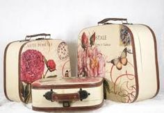 Decoupage Suitcase, Vintage Luggage, Interior Styling, Antiques, Transportation, Google Search, Travel, Art, Blue Prints
