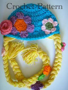Rapunzel sombrero de ganchillo patrón PDF