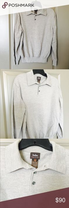 🎉SALE🎉Neiman Marcus Sweater Neiman Marcus men's size L sweater with button fastening and polo collar. Incredibly soft merino wool in sand color. NWOT. Made in Italy 🇮🇹. Neiman Marcus Sweaters