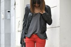 grey & red
