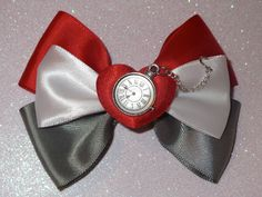 White Rabbit Alice in Wonderland Inspired Bow by PrincessMeeko, $8.50
