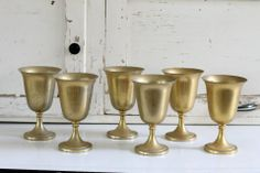 Brass from Southern Vintage is perfect for gold weddings