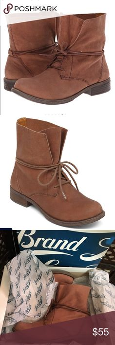 Lucky Brand Boots Size 6    Ripley is a stylish lace up bootie with a smooth round toe. Perfect for those chilly fall days!.  100% leather with rubber sole.  Never worn  ❌sorry no trades. Consider a bundle and save 10%! Lucky Brand Shoes Ankle Boots & Booties