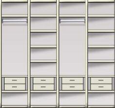 Kastinterieur configurator: voer uw maten in! Kid Closet, Shelving, Organization, Bedroom Ideas, Organize, Blog, Home Decor, Zapatos, Shelves