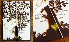 Laser Cut Tree Invitations | Classic Wedding Invitations.com.au