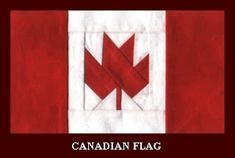 Paper Pieced Canadian Flag by Christine Thresh from Winnowings Iris Paper Folding, Iris Folding Pattern, Paper Piecing Patterns, Quilt Block Patterns, Flag Quilt, Quilt Blocks, Quilt Art, Quilting Projects, Sewing Projects