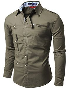 Doublju Mens shirts with Zipper point - Smart Pinner