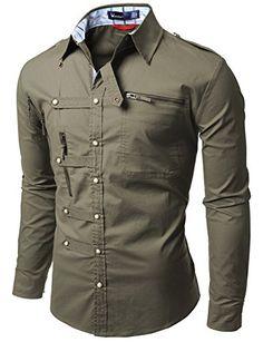 Doublju Mens shirts with Zipper point - Smart Pinner