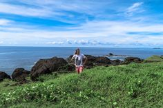 I'm standing here on the Point Binurong natural landmark in Catanduanes Province, Philippines.