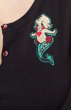 Kewpie Seahorse Cardigan by Sourpuss