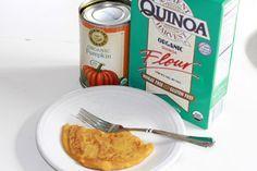 Quinoa pumpkin pancakes- used vanilla coconut milk, pumpkin-pie spice, and a little baking soda. YUM!
