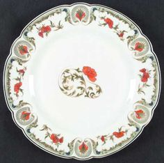 """""""Chantoung"""" china pattern with red & green trim from Chas Field Haviland."""