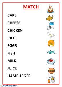 Food online exercise for 1º y 2º de primaria