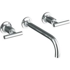 Kohler Purist™ 1.5 gpm 3-Hole Bathroom Sink Faucet Trim with Double Lever Handle KT14414-4