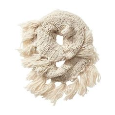 Athleta Women Boho Fringe Infinity Scarf (235 ILS) ❤ liked on Polyvore featuring accessories, scarves, natural, athleta, circle scarf, bohemian scarves, tube scarf and tube scarves
